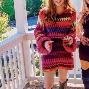Free People Striped Sweater / Dress